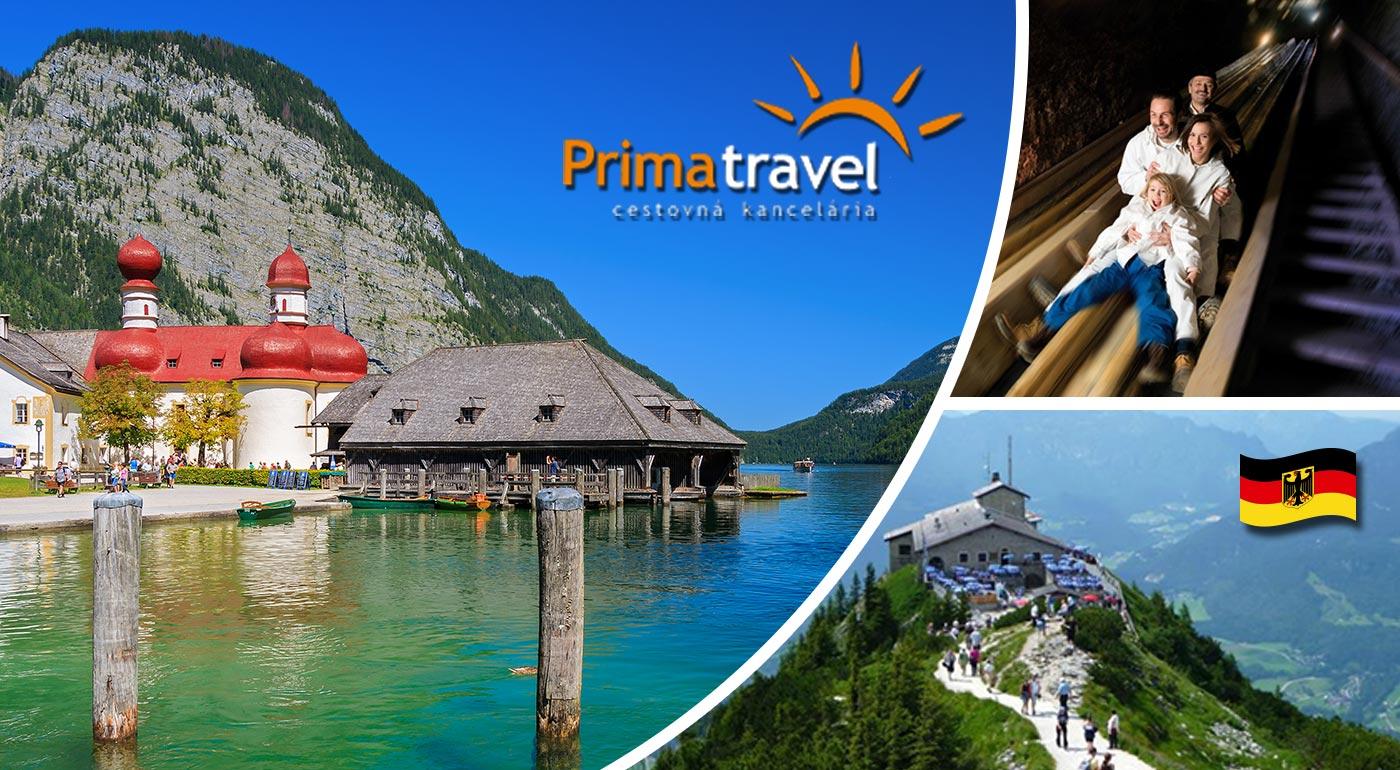 Smaragdové jazere Königsee, Orlie hniezdo, soľná baňa a alpská likérka - slnečný víkend v Rakúsku