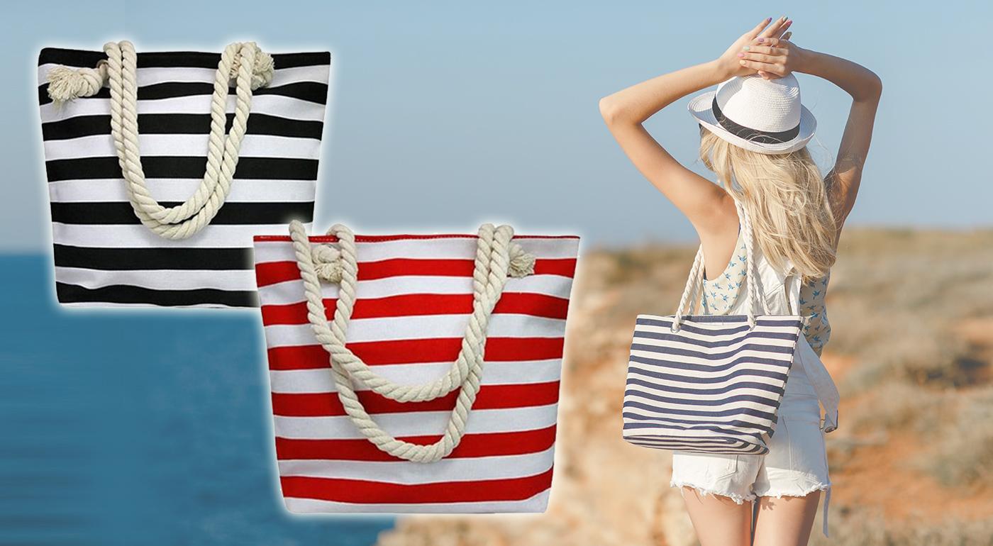 Trendy a moderné plážové tašky so zapínaním na zips
