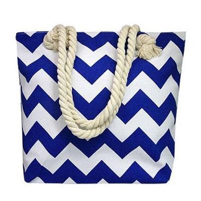 Plážová taška vzor: modré pásiky