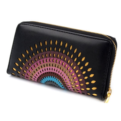 Peňaženka Mandala - čierna