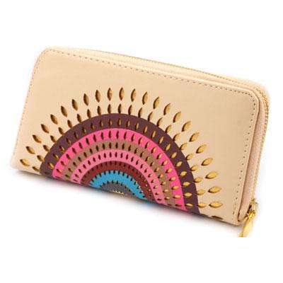 Peňaženka Mandala - krémová