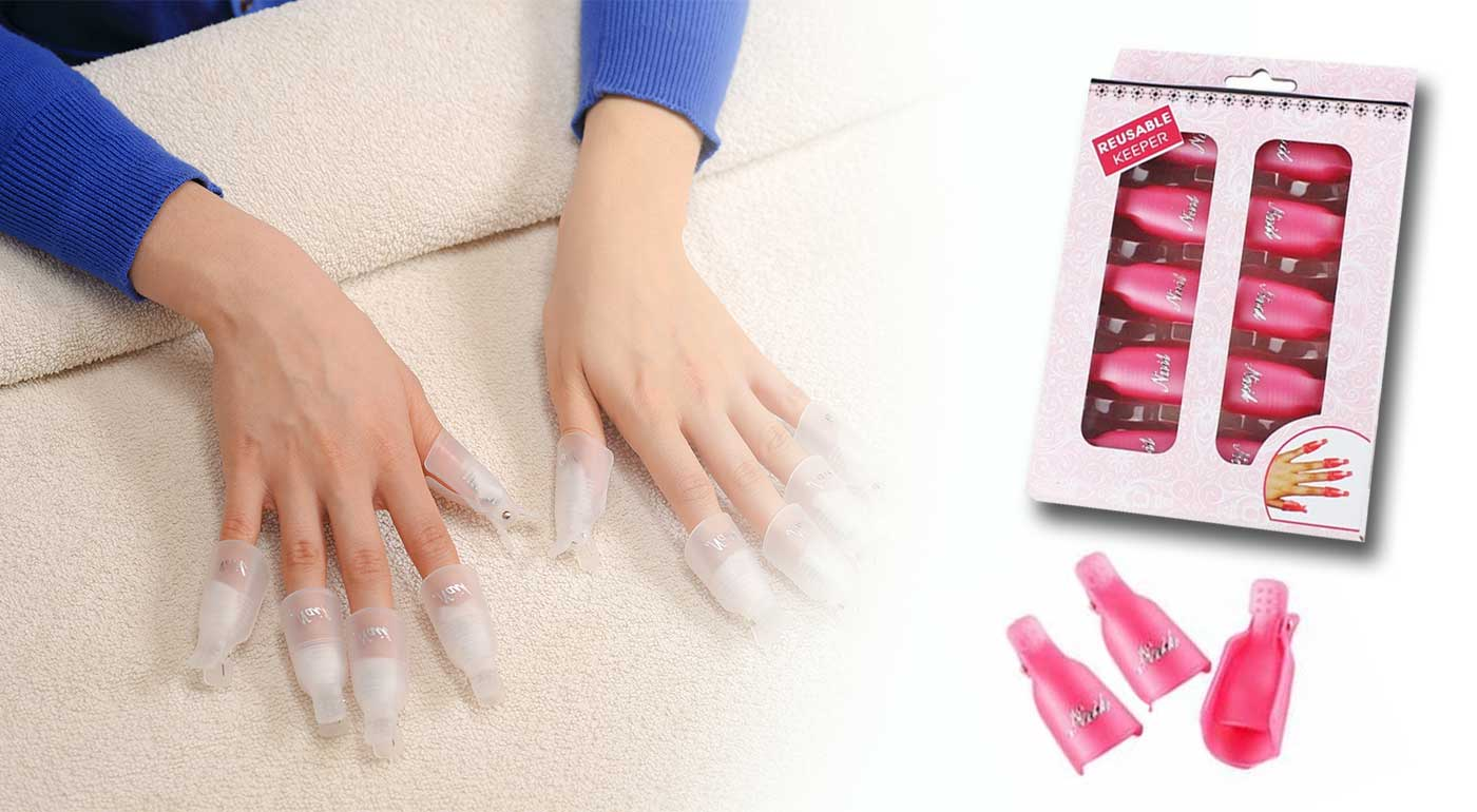 1 sada - pomôcka na odstránenie gélových nechtov, gél laku a laku na nechty