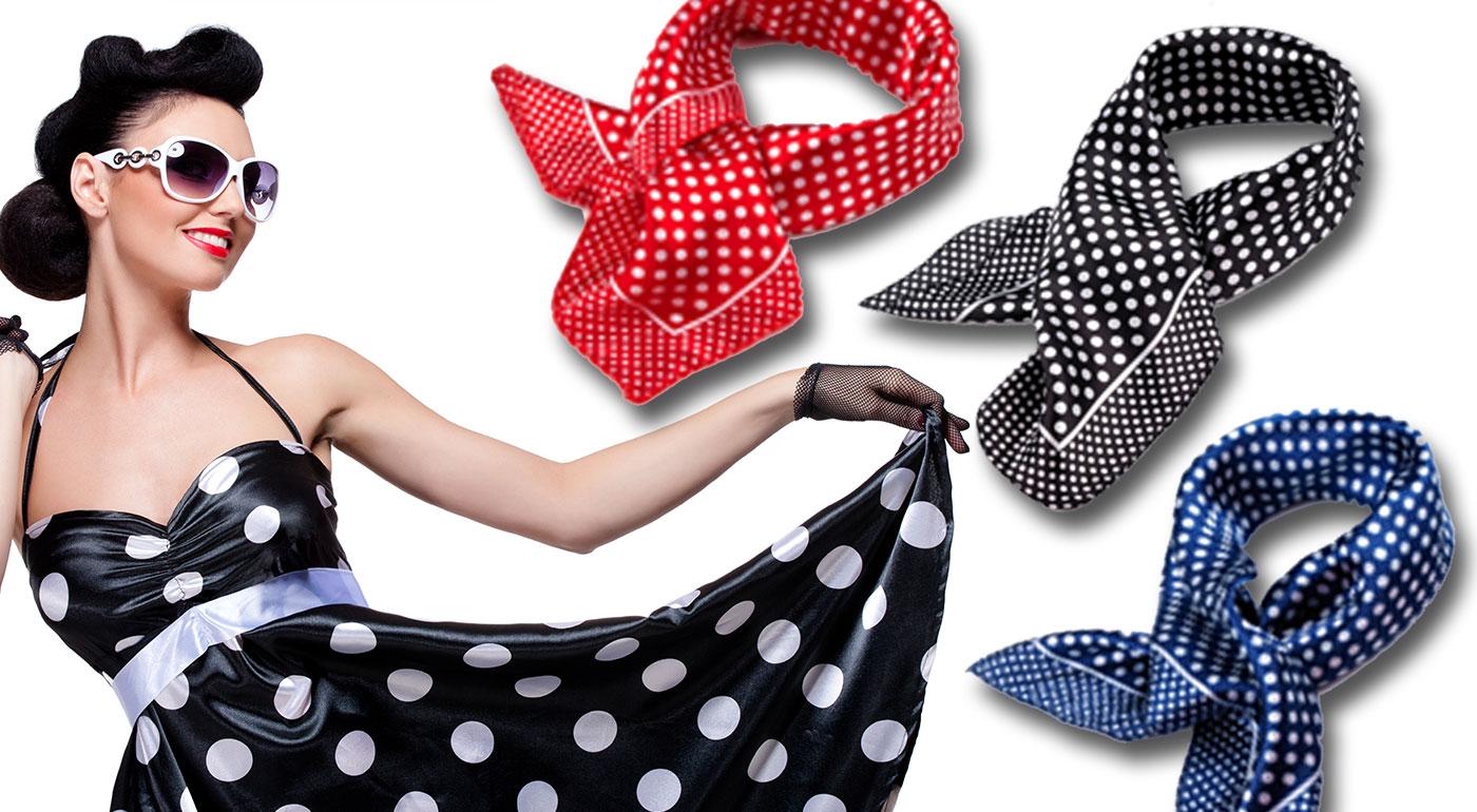 Trendy dámska šatka v žiarivých bodkovaných vzoroch!