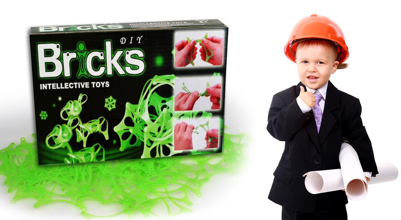 Náučná stavebnica DIY Bricks pre deti, ktorá svieti v tme!
