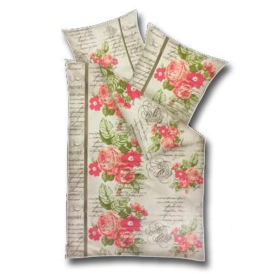 Model C - Dvojdielne obliečky z mikrofázy - ruže, vankúš 80 cm x 80 cm, perina 135 x 200 cm