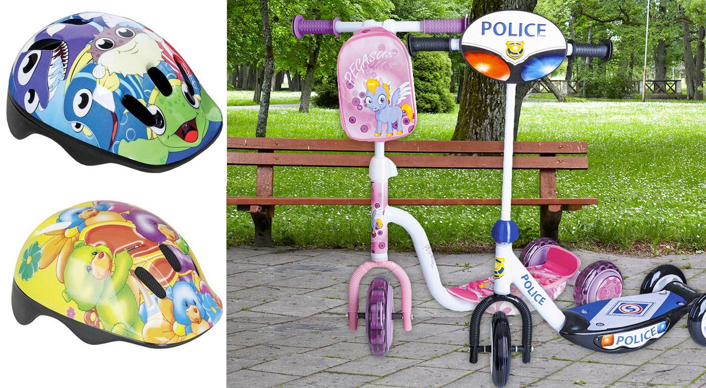 Detská kolobežka a cyklistická prilba - na výber vo viacerých farbách!