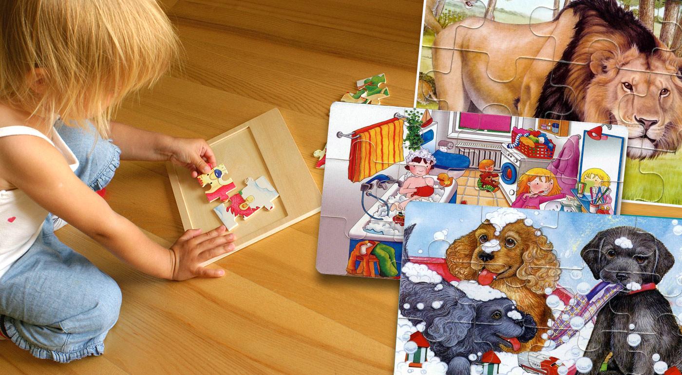 Detské náučné puzzle s krásnymi ilustráciami - na výber 7 druhov