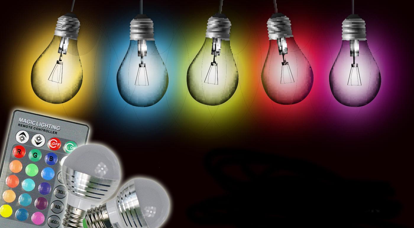 Žiarovka meniaca až 16 farieb s diaľkovým ovládačom