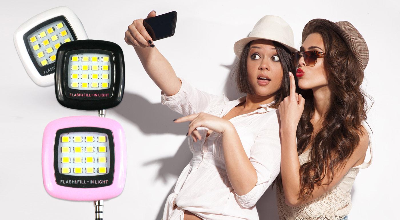 LED Selfie osvetlenie na krásne nočné fotky!