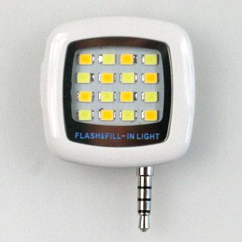 Smarphone LED selfie svetlo na nočné fotky - biele