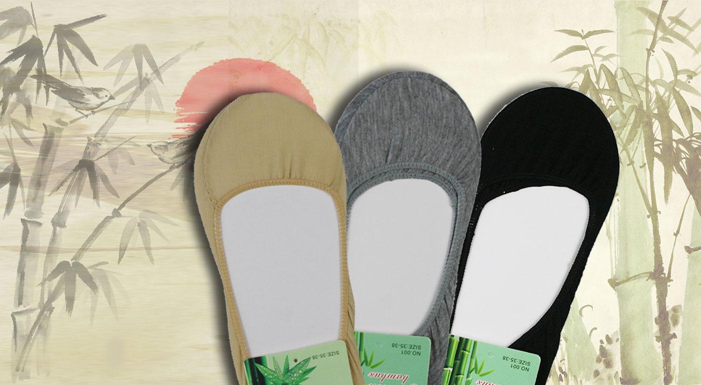 Pohodlné bambusové ponožky do balerínok