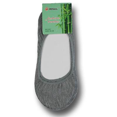 Dámske bambusové ponožky do balerínok - 5 párov - šedá farba