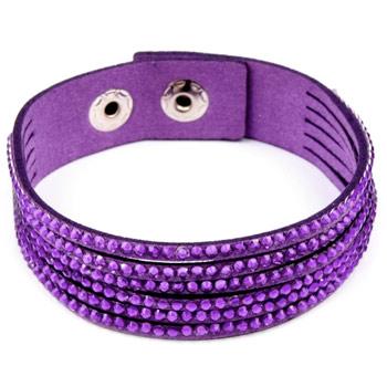 Dámsky náramok s kamienkami - fialový