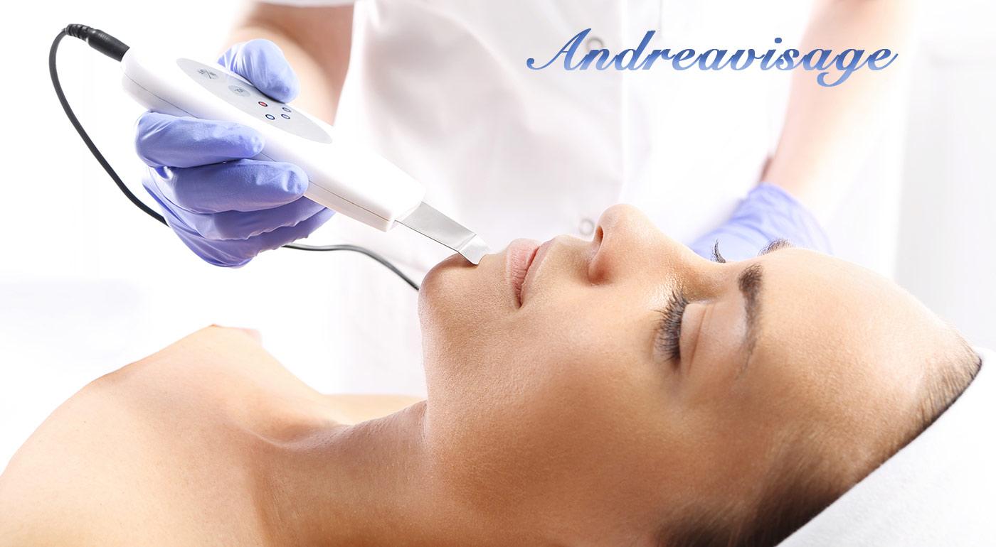 Vyčistenie pleti ultrazvukovou špachtľou s hydratačným a zjemňujúcim účinkom