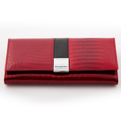 Dámska luxusná peňaženka ALESSADRO PAOLI - červená
