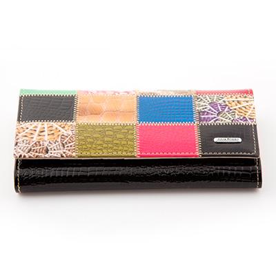 Dámska luxusná peňaženka JULIA ROSSO vzorovaná - čierna