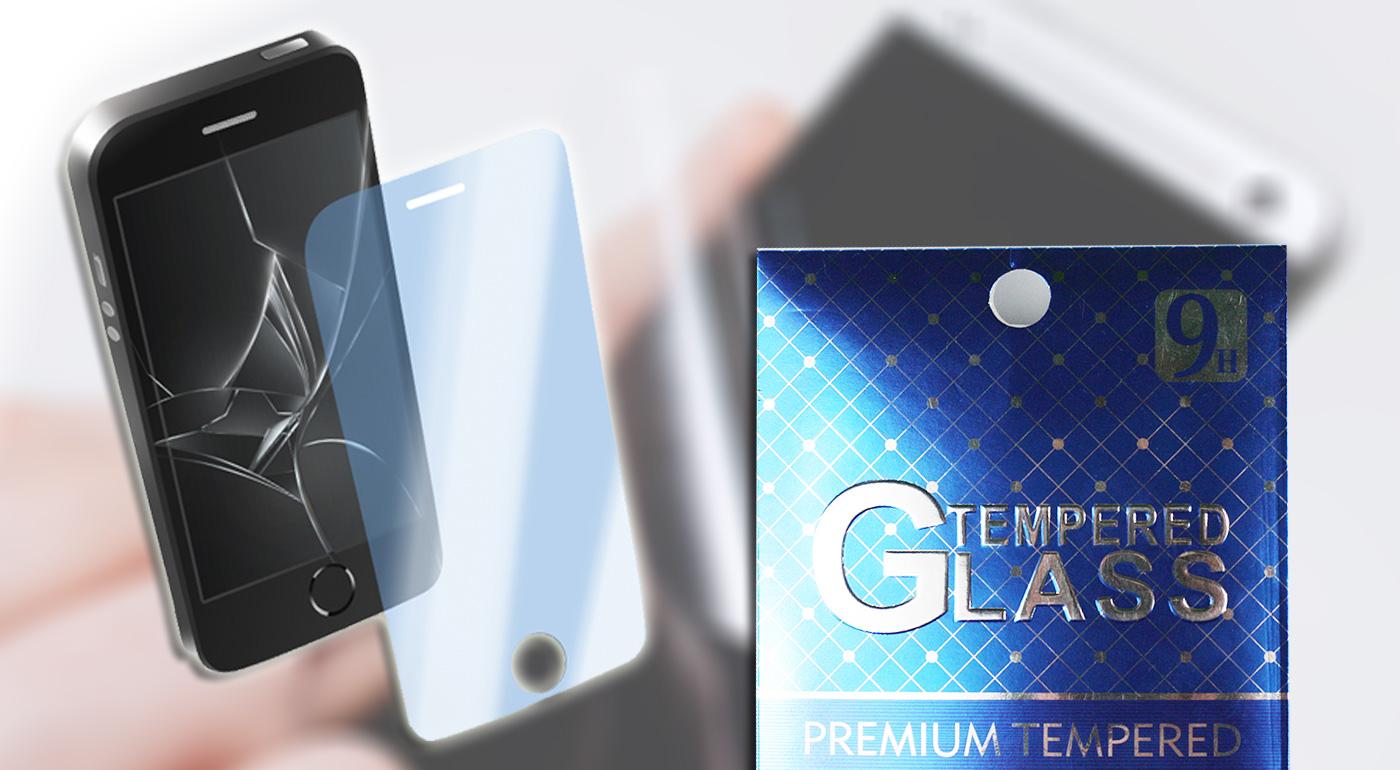 Tvrdené sklo na mobil s handričkou na vyčistenie displeja a uhladenie skla