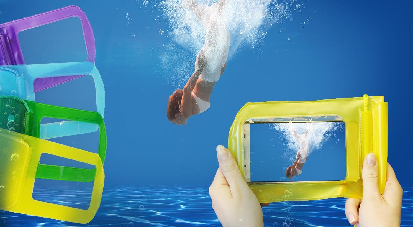 Potápajte sa bez obáv! Praktické vodotesné puzdro na mobil a cennosti