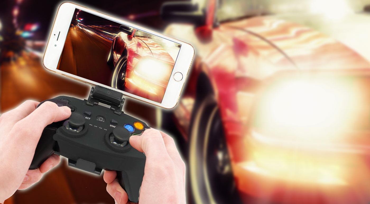 Prevratný ovládač Bluetooth Gamepad s držiakom na mobil pre vášnivých hráčov