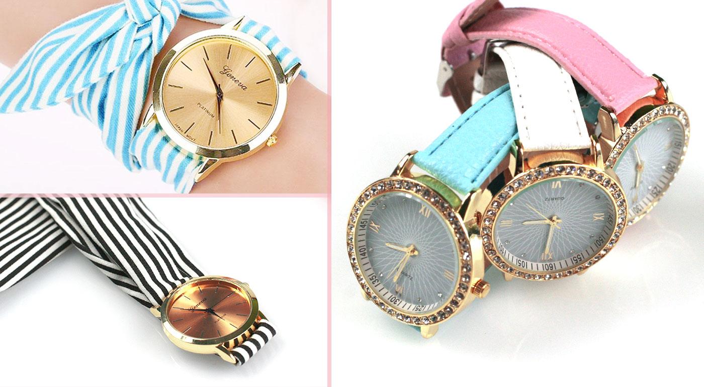 U kaderníčky vždy načas! Štýlové dámske hodinky s koženkovým alebo látkovým viazaním