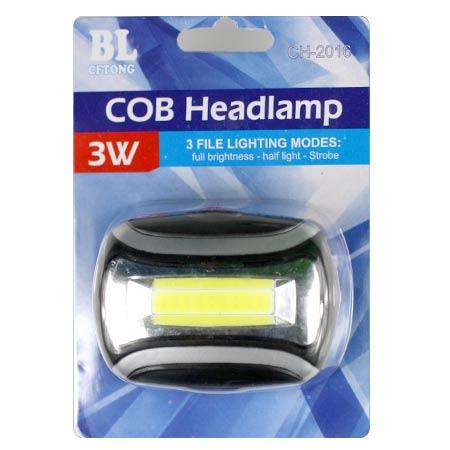 Čelová lampa LED COB čip