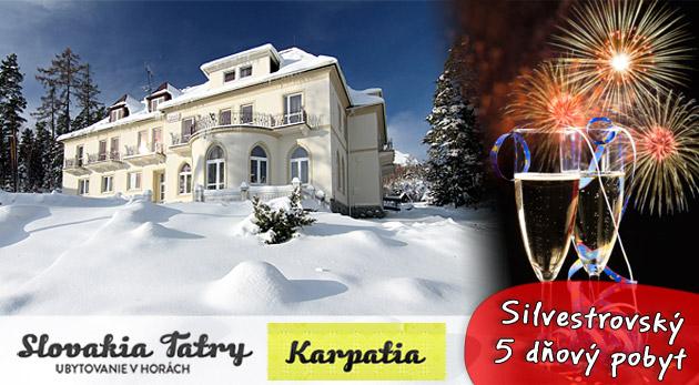 Oslávte Silvester vo Vysokých Tatrách. 5 dní v útulnom penzióne Karpatia v Tatranskej Lesnej.