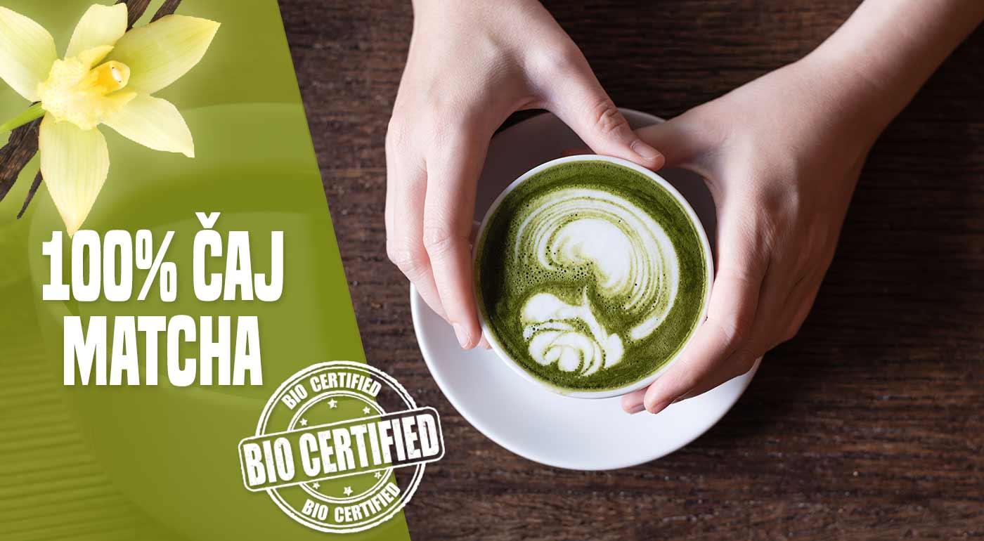 Matcha - 100% certifikovaný čaj v čistej podobe alebo s príchuťou vanilky