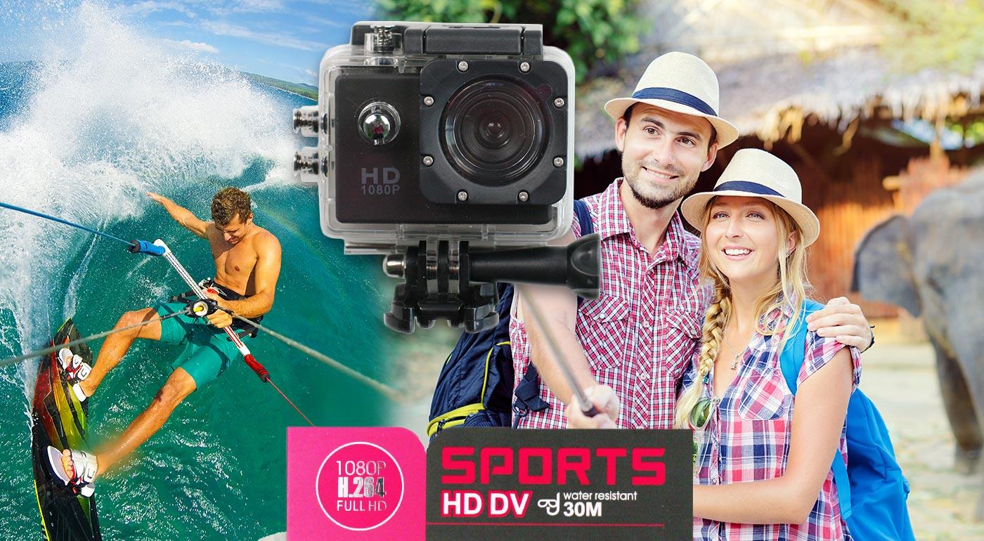 Natočte si všetky vaše adrenalínové zážitky s HD širokouhlou vodotesnou kamerou