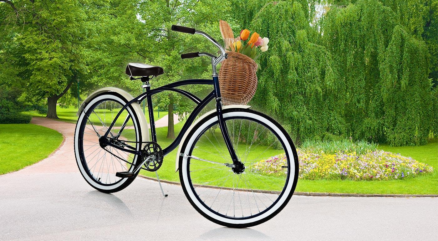 Jedinečný retro bicykel s košíkom