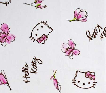 Nepremokavý detský chránič matraca Hello Kitty - vzor 1