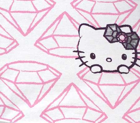 Nepremokavý detský chránič matraca Hello Kitty - vzor 2