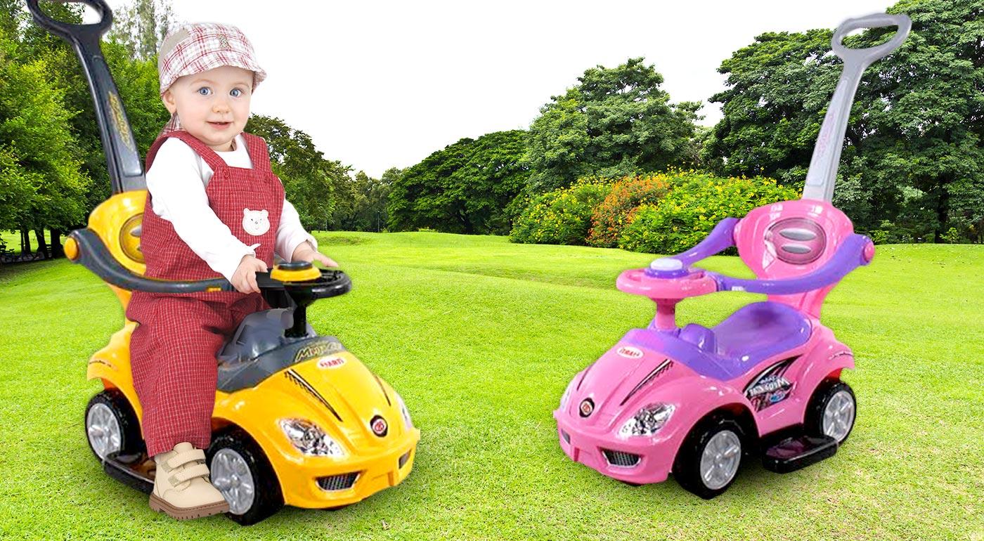 Odrážadlá ARTI Mega Car pre deti do 3 rokov v dizajne autíčka - na výber dve farby