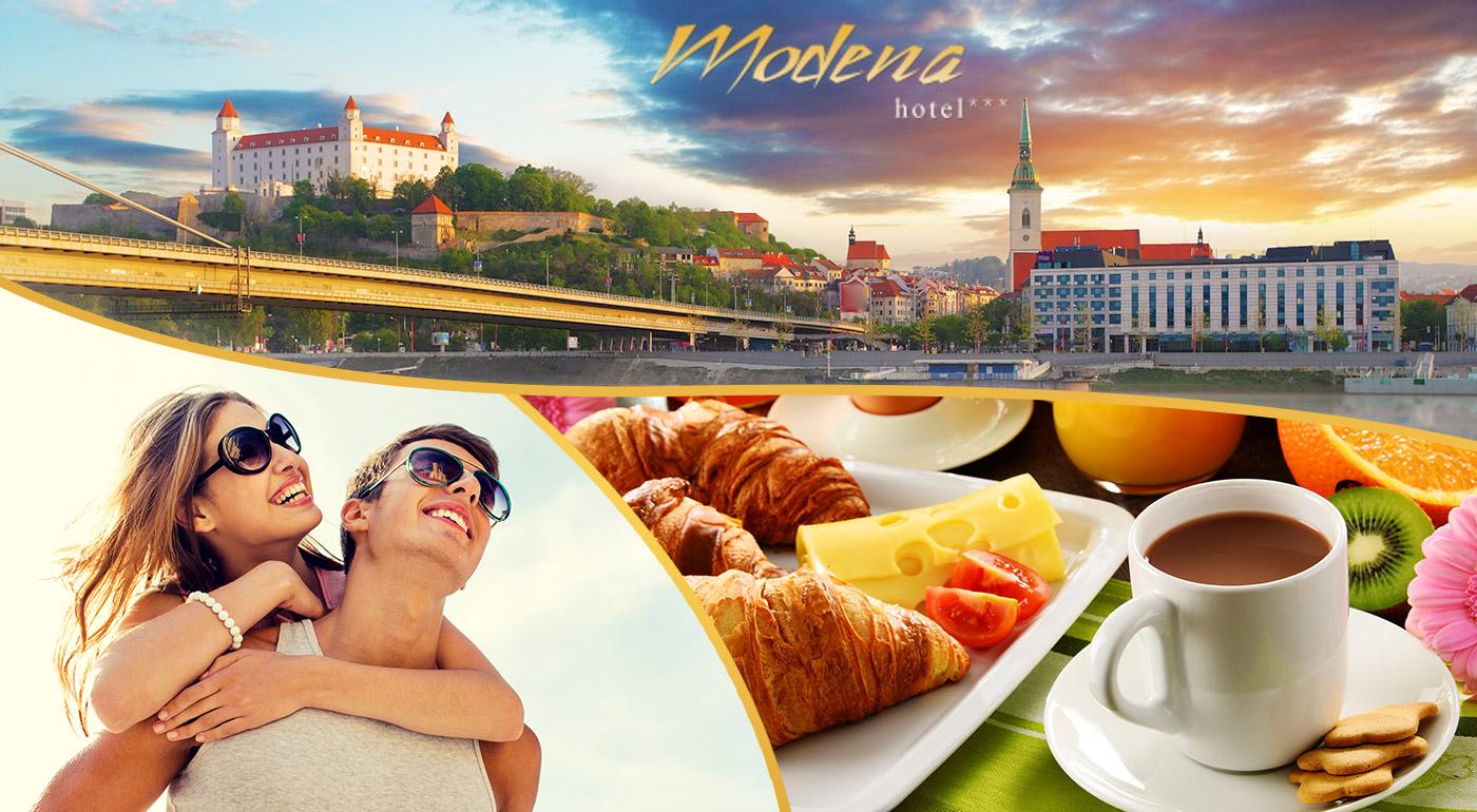 Ubytujte sa v Hoteli Modena*** v Bratislave a spoznajte čo ponúka naše hlavné mesto - v ponuke aj variant so súkromným wellness