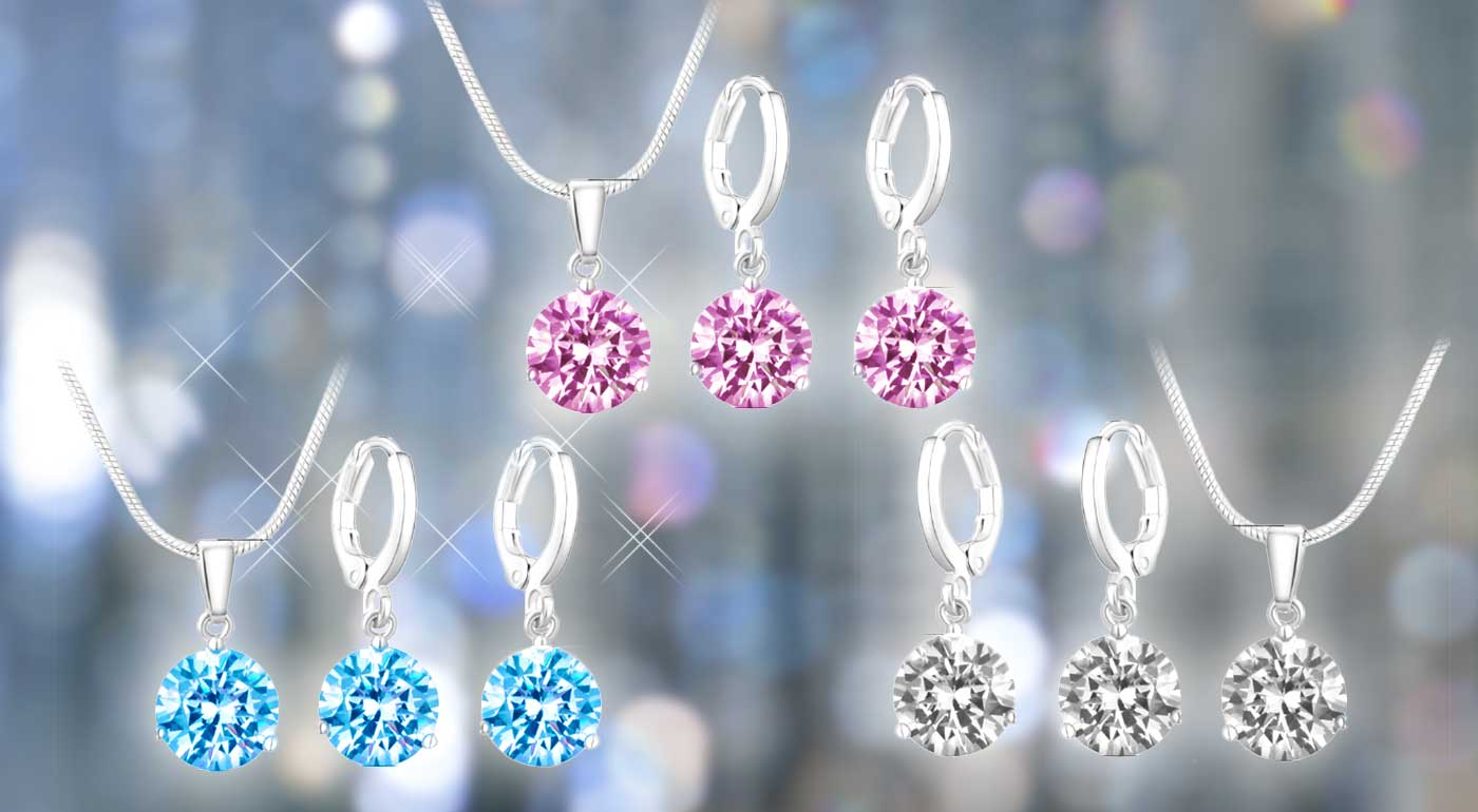 Okúzľujúci 2-dielny set šperkov vykladaný českými kryštálmi