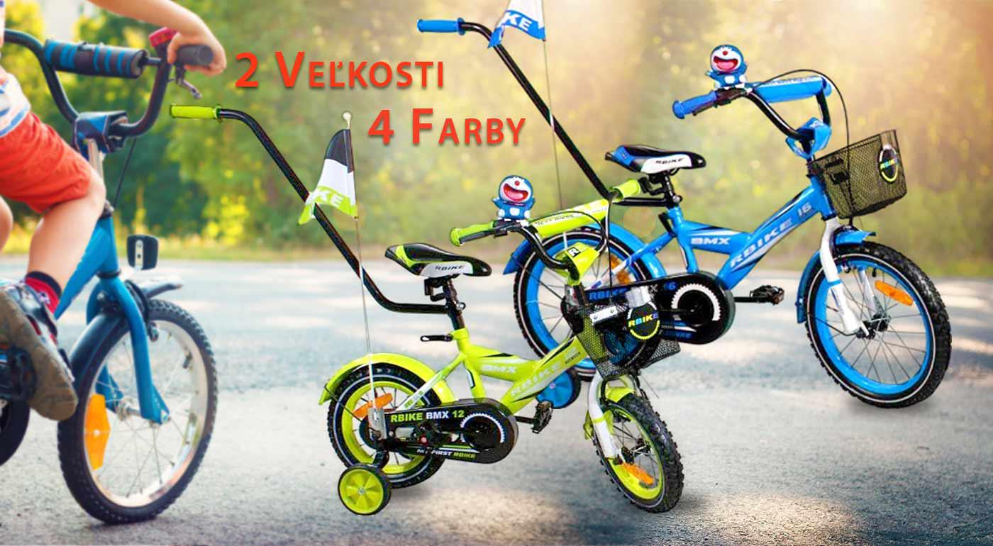 Kompletne vybavený detský bicykel