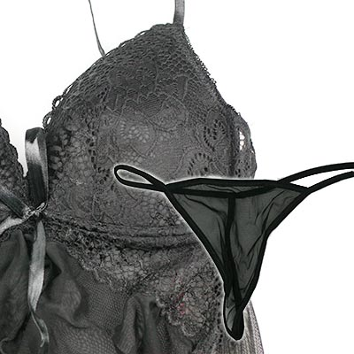 Dámske sexi spodné prádlo - čierne