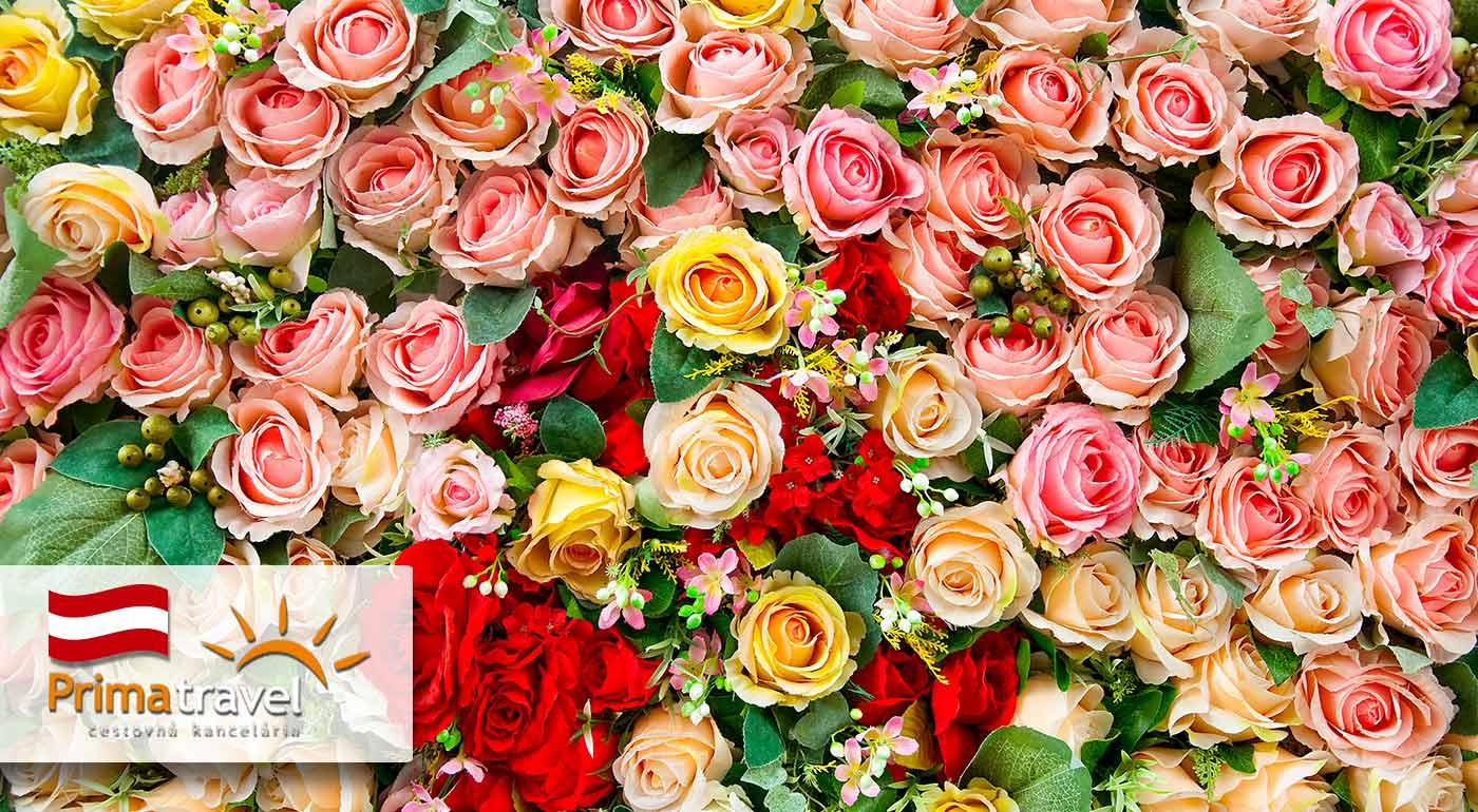 Nádielka farieb a vône na výstave kvetov v rakúskom meste Tulln