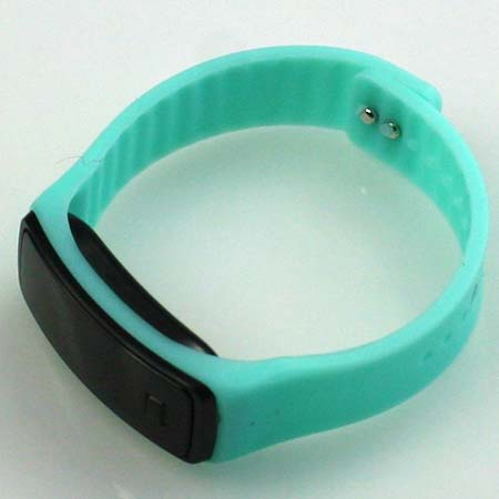 Silikónové hodinky s LED displejom - farba tyrkysová