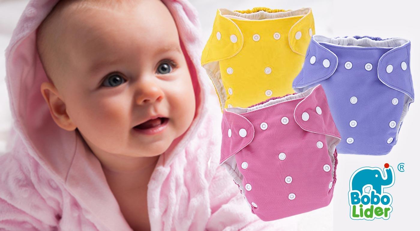 Detské látkové eko plienky značky BoboLider  s vkladačkou - na výber v 10 farbách