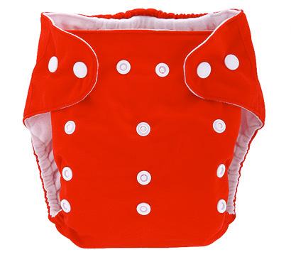 Detská látková eko plienka, farba červená + vkladačka