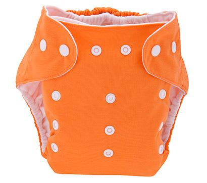 Detská látková eko plienka, farba oranžová + vkladačka