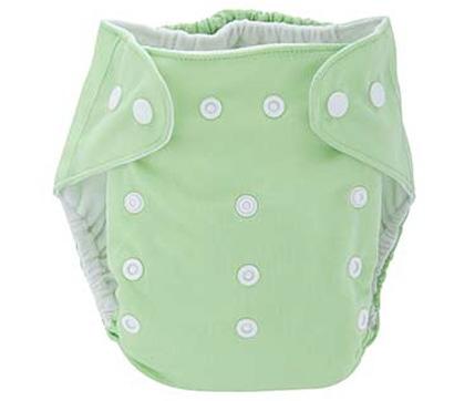 Detská látková eko plienka, farba pastelovo zelená + vkladačka
