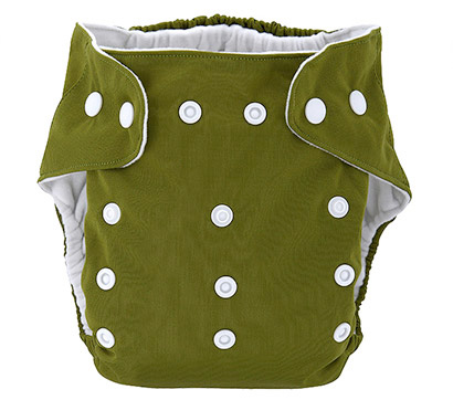 Detská látková eko plienka, farba tmavo zelená + vkladačka