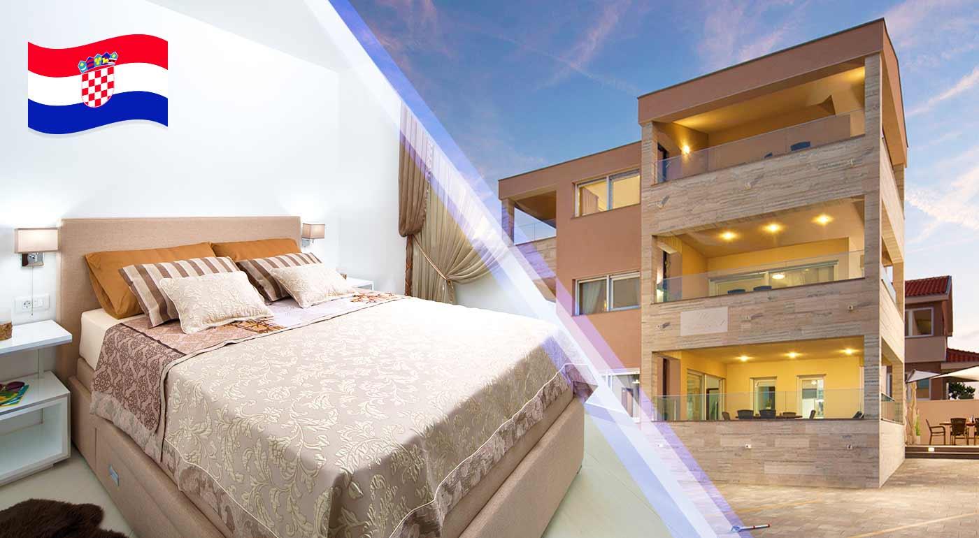 Pohodová dovolenka v súkromí luxusných apartmánov na ostrove Vir pre 2 až 6 osôb