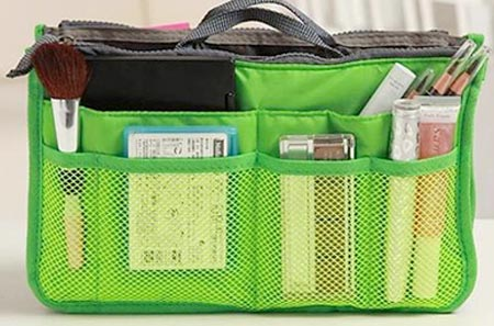 Organizér do kabelky zelený