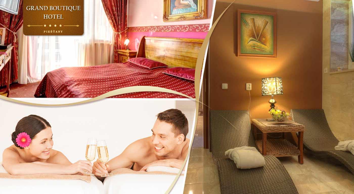 Doprajte si romantiku ako zo strieborného plátna v Grand Boutique Hotela Sergijo****