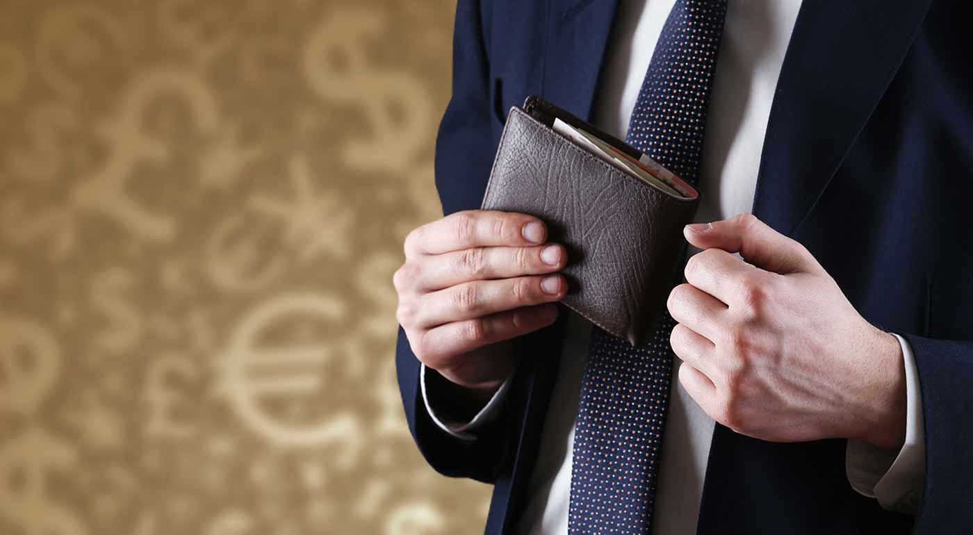Pánska kožená peňaženka v dvoch farbách