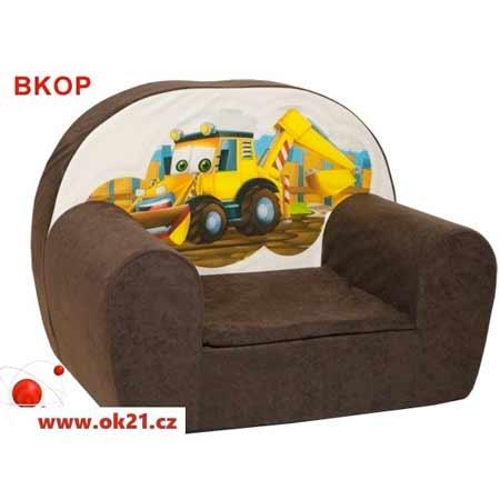Rozkladacie malé kreslo pre deti - vzor BKOP