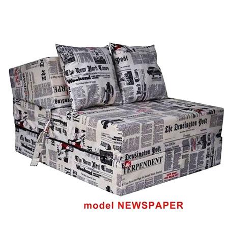 Rozkladacie kreslo s potlačou - model Newspaper