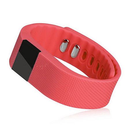 Inteligentný fitness náramok - farba červená